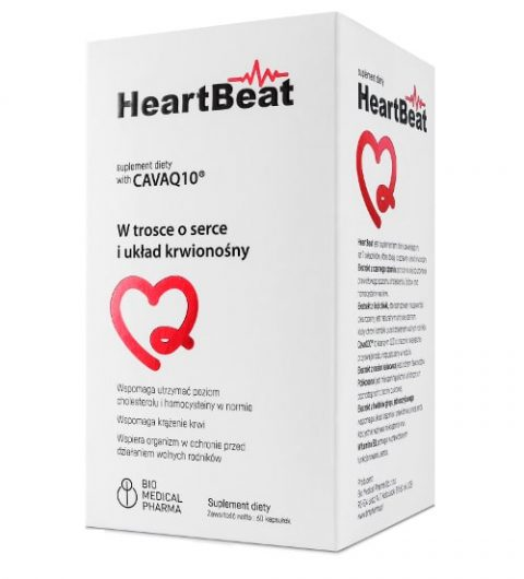 HeartBeat 60 kapsułek - wspomaga zdrowie serca